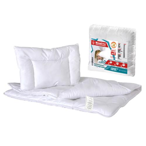 Wypełnienie do łóżeczka 100×135 cm Kołderka + Poduszka MEDYK Zestaw całoroczny