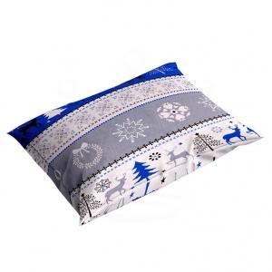 Poszewka świąteczna 70×80 cm BAWEŁNA na poduszkę Zima