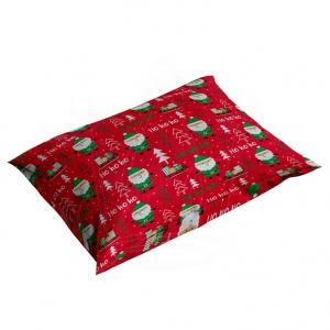 Poszewka świąteczna 70×80 cm BAWEŁNA na poduszkę Mikołaje