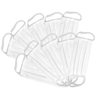 10x Maski ochronne WIELORAZOWE Koronawirus Białe Maseczki Bawełniane Higieniczne Zestaw
