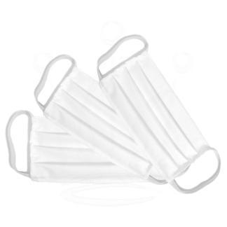 3x Maski ochronne WIELORAZOWE Koronawirus Białe Maseczki Bawełniane Higieniczne Zestaw